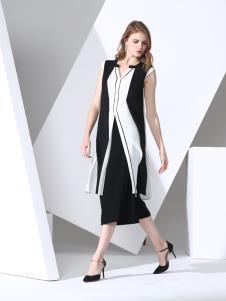 凯伦诗2017春夏新款中长款外套