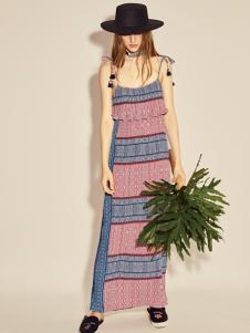 摩登时尚西蔻17新款复古吊带裙