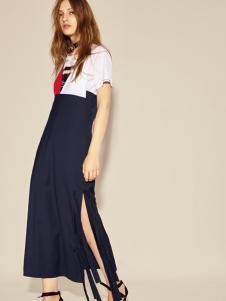 摩登时尚西蔻17设计师范连衣裙