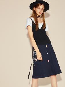 摩登时尚西蔻17新款吊带裙