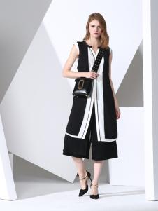 凯伦诗2017春夏新款黑色外套