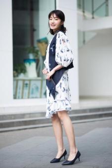 唯一2017夏季新品雪纺裙