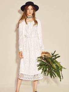 西蔻17新款白色唯美连衣裙