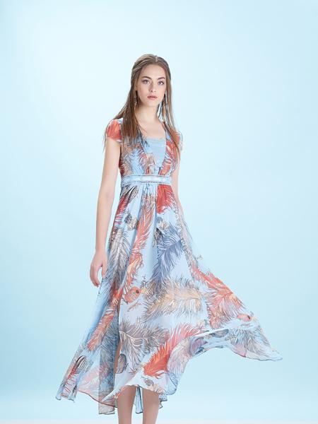 卡索Castle17新款印花裙