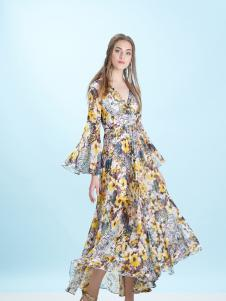 卡索Castle时尚印花裙