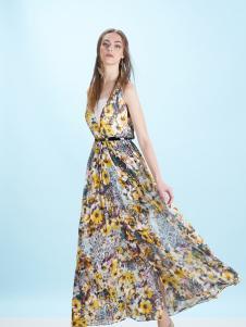 卡索Castle17唯美印花长裙