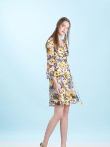 卡索Castle17时尚印花短裙