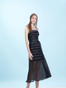卡索Castle17新款唯美性感吊带裙