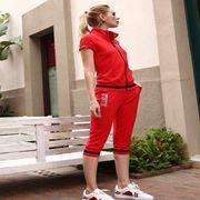 黑白伊人新款最时尚运动套装让你运动一夏,充满活力
