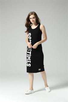 Paul Homme黑色贴身长裙