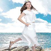 艺域女装新品 棉麻印花裙让你的气质不再平凡