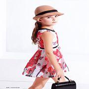 辛芭狗童装新品 小女孩穿印花裙也很好看