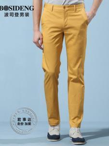 欧森朗新款橙色休闲裤