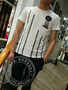 欧森朗新款白色短袖T恤
