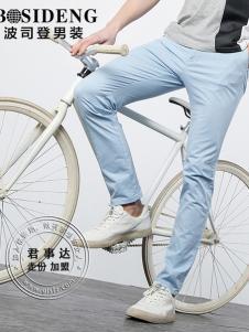 欧森朗新款浅蓝色薄款休闲裤
