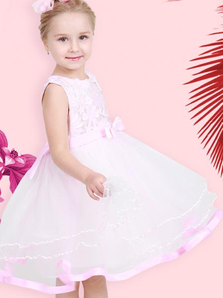 杰米兰帝17夏新款女童粉色连衣裙