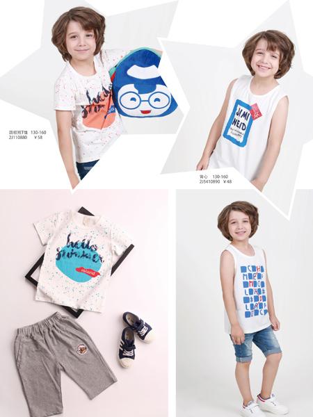 杰米兰帝17夏新款男童简约T恤
