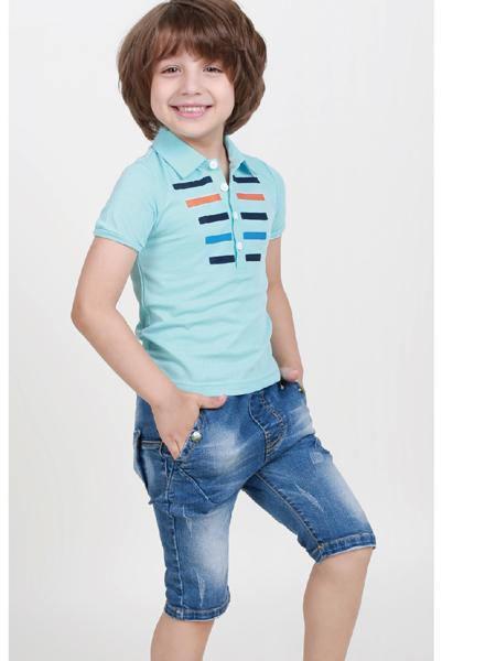 杰米兰帝17夏新款男童T绿色恤