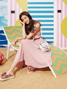 雅奴天使17新款粉色连衣裙
