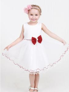 杰米兰帝17夏新款女童白色连衣裙