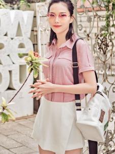 雅奴天使17新款粉色衬衫