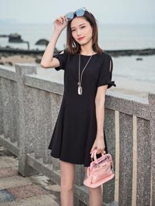 雅奴天使17新款小黑裙
