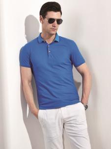 啄木鸟新款蓝色短袖T恤