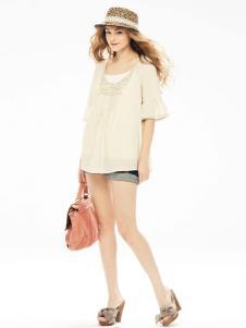 衣肖秀新款纯色短袖T恤