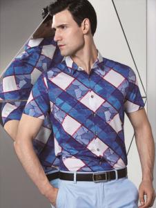 啄木鸟新款斜纹方格衬衫