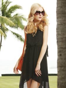 衣肖秀新款黑色连衣裙