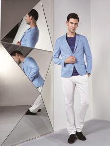 啄木鸟新款浅蓝色西装
