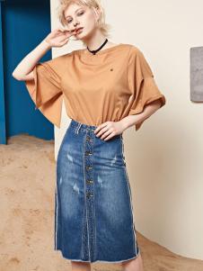 丽芮17时尚新款牛仔半裙