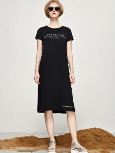 丽芮17时尚新款休闲小黑裙