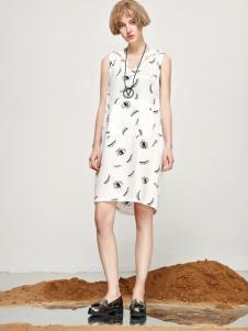 丽芮17时尚新款无袖印花裙