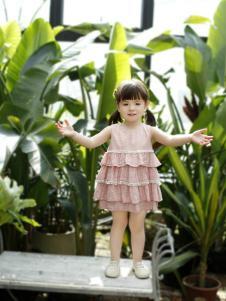 兔子杰罗夏季新款粉色连衣裙