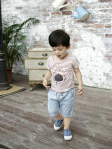 兔子杰罗夏季新款条纹T恤