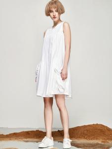丽芮17时尚新款棉麻连衣裙