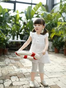 兔子杰罗夏季新款圆领无袖连衣裙