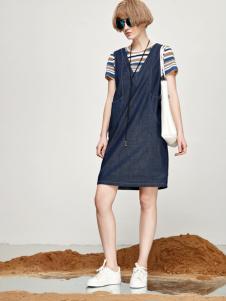 丽芮17时尚新款牛仔裙套装