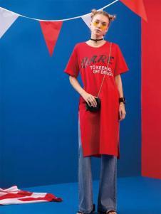 芝麻E柜2017中长款T恤