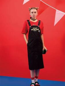 芝麻E柜2017新款背带裙