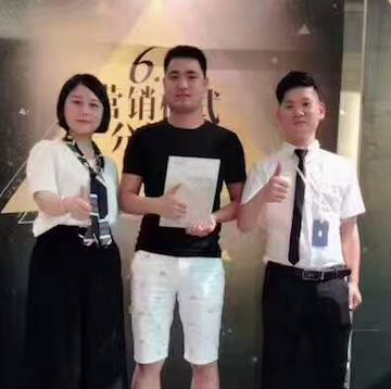恭贺安徽马鞍山李总成功牵手JAOBOO乔帛!