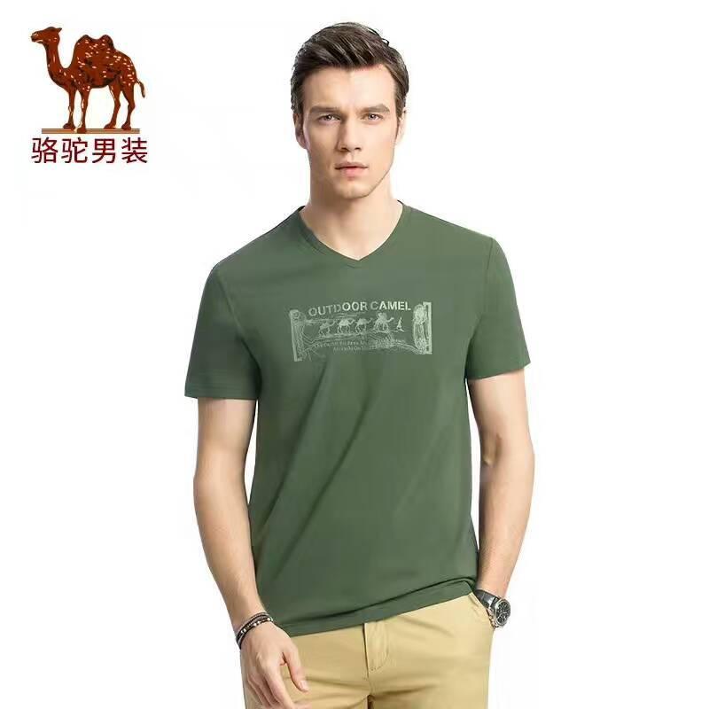 品牌折扣男装广州骆驼T恤厂家尾货