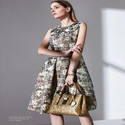 乔帛女装新品 知性优雅连衣裙穿搭,时尚美丽