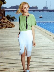 丹比奴女装2017新款白色包臀裙