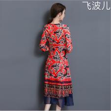 飞波儿2017年新款红裙