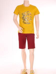 添多利男装夏新款休闲T恤