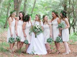 2017婚纱礼服市场趋势:伴娘服流行白色款