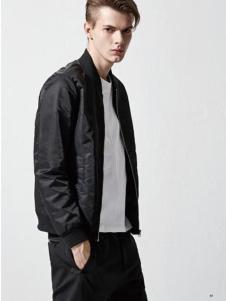 钡禾2017男款黑色外套