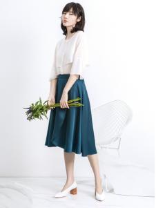 ECA2017新款唯美文艺套装裙